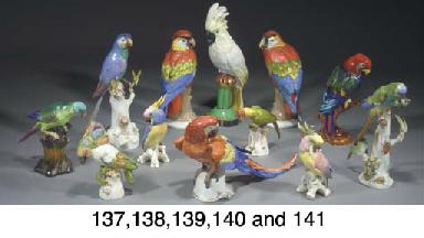 Eleven various porcelain model