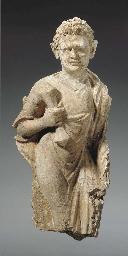 A Small Stucco Figure of Vajra