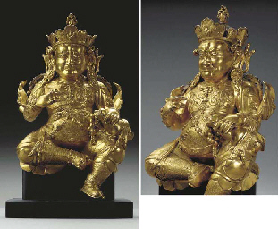 A Gilt Bronze Figure of Vaishr