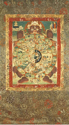 A Thangka of the Wheel of Life