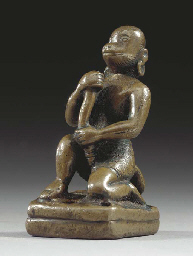 A Small Bronze Figure of Hanum