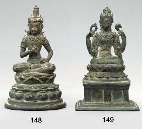 A Small Bronze Figure of Vajra