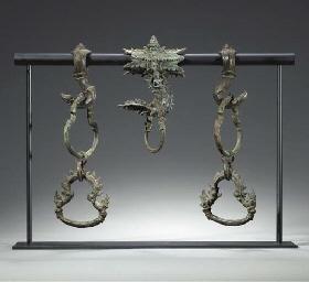 A Set of Bronze Palanquin Fitt