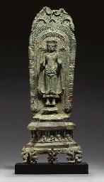 A Rare Bronze Shrine