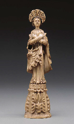 An Ivory Figure of Our Lady**