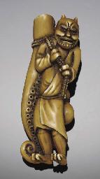 A Japanese stained ivory netsu