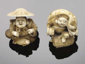 A Japanese ivory netsuke of Da