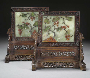 A pair of Chinese embellished