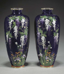 A pair of Japanese cloisonne h