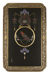 A large Chinese inlaid panel,