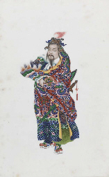 Four Chinese export paintings