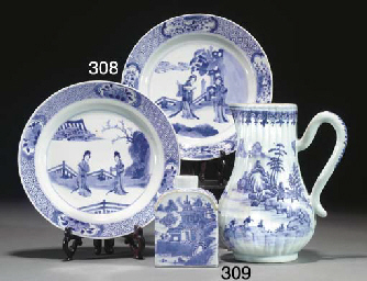 A Chinese blue and white jug,