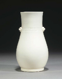 A Chinese blanc-de-chine vase,