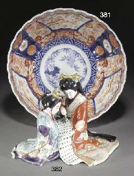 A Japanese imari lobed bowl, l