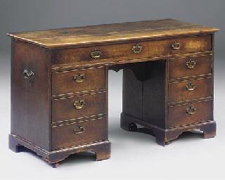A George III oak estate desk
