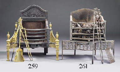 A George III steel firegrate