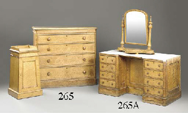 A VICTORIAN MAPLE CHEST