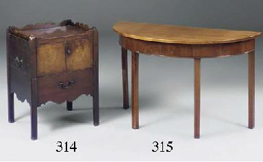 A mahogany commode