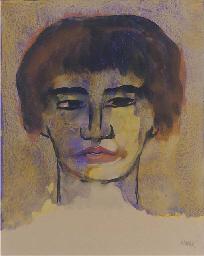 Frauenkopf (mit kurzem Haar)