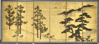Pine trees and Chinese black p