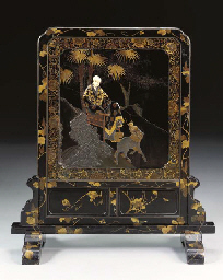 An Inlaid Lacquer Standing Scr