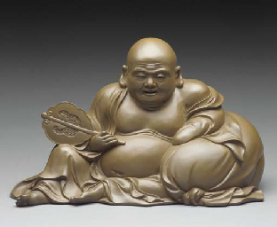 Seated Hotei (God of good fort