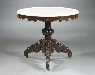 A French mahogany centre table