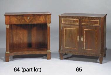 (2) A Dutch mahogany console t