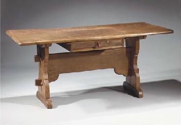 A German oak bailiff table