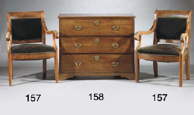 An English mahogany chest of d