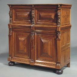 A Dutch rosewood and oak cupbo