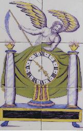 An Utrecht polychrome clock ti
