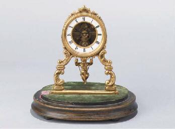 (2)  A Napoleon III gilt-brass
