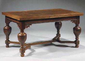 A Dutch oak and ebonised draw