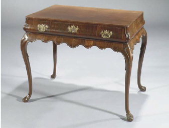 A Dutch mahogany tea-table