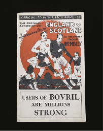 ENGLAND V. SCOTLAND INTERNATIO