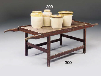 AN ENGLISH STAINED PINE PICNIC