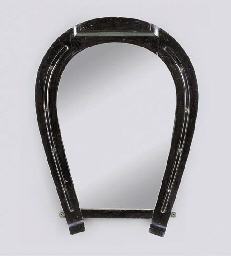 A VICTORIAN EBONISED 'HORSE-SH