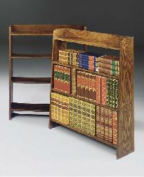 A PAIR OF OAK OPEN BOOKSHELVES
