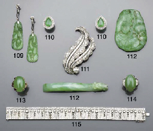 A quantity of jade jewellery a