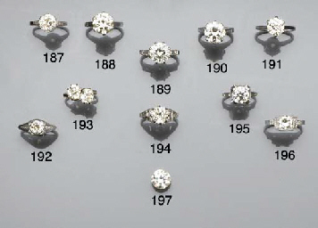 A diamond-single stone ring,