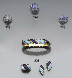 A suite of diamond and enamel