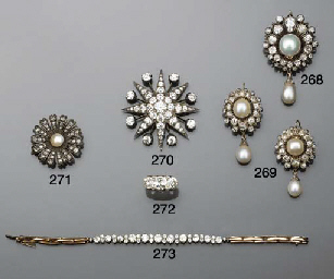 A pair of 19th century, pearl