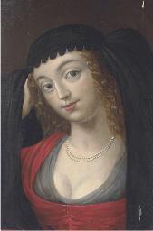 Portrait of a maiden, bust-len