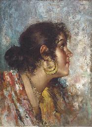 An Italian girl in contemplati
