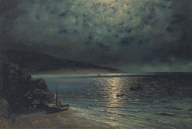 Rowing ashore by moonlight