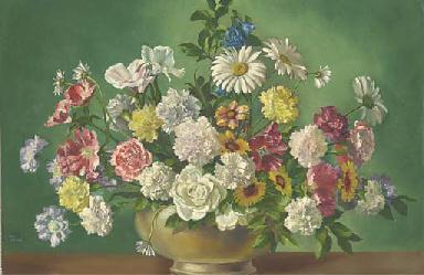 Carnations, roses, daisies, tu