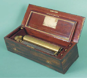 A lever-wind musical box by Ni