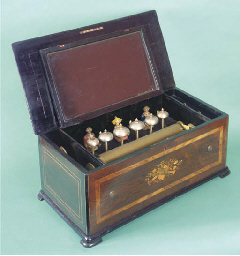 A musical box with automaton s