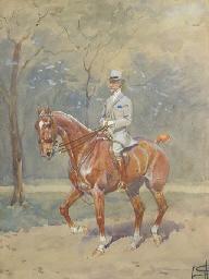 Le comte de Ruillé à cheval